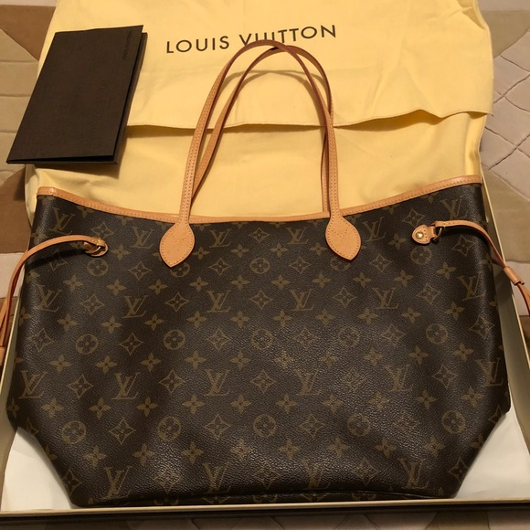 9fea1f8470048 100% Authentic Louis Vuitton Neverfull MM